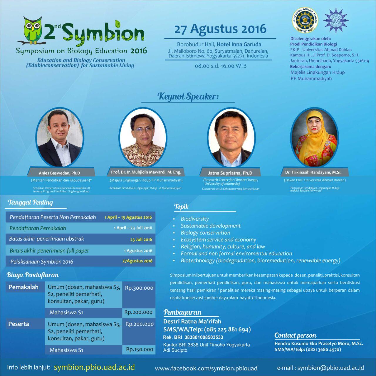 Symposium on Biology Education